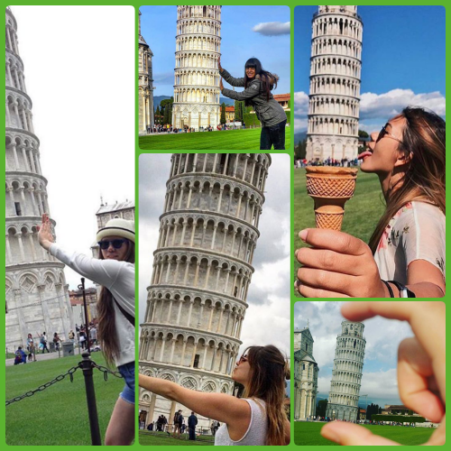 collage leaning tower